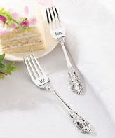 Lillian Rose Silver-Plated Mr. & Mrs. Fork - Set of Two