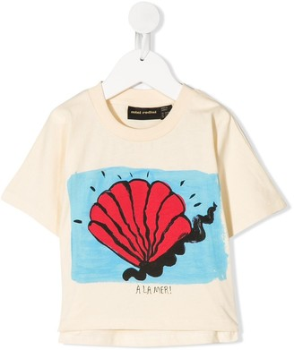 Mini Rodini shell print T-shirt