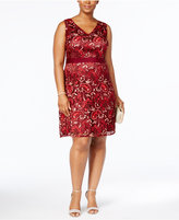 Adrianna Papell Plus Size Lace Sheath Dress