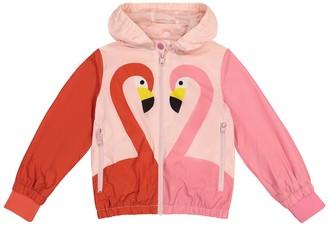 Stella McCartney Kids Flamingo hooded jacket