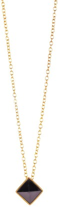Christina Greene Lavalliere Necklace in Black Onyx