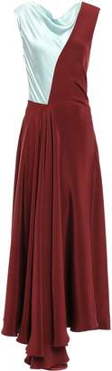 Roksanda Two-tone Silk-satin Crepe Midi Dress