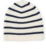 Nautica Striped Ribbed Beanie Hat