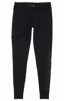 Superdry Women's Rhine Stone Logo Legging Sports Tights
