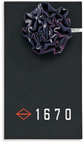 1670 Camouflage Flower Lapel Pin