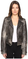 Just Cavalli Leather Moto Hot Rod Jacket