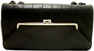 Chanel Black Lambskin Leather Chain Shoulder Bag