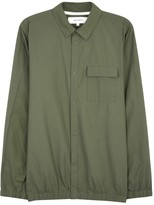 Norse Projects Jens Army Green Cotton Blend Shirt