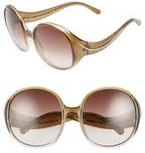 Chloé Women's Nelli 59Mm Gradient Lens Round Sunglasses - Gradient Blue/ Turtledove