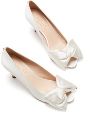 Kate Spade Crawford Peep-Toe Bow Pumps
