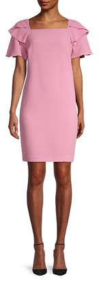 Trina Turk Wander Ruffle-Sleeve Sheath Dress