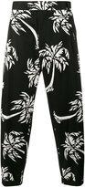Dolce & Gabbana palm tree print cropped trousers - men - Cotton/Spandex/Elastane - 44