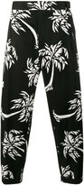 Dolce & Gabbana palm tree print cropped trousers - men - Cotton/Spandex/Elastane - 46