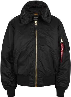 Alpha Industries B-15 Black Shell Bomber Jacket
