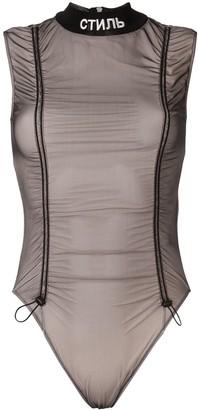 Heron Preston Logo-Embroidered Sleeveless Bodysuit