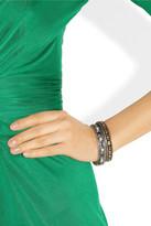 Artisan Sterling silver, citrine and diamond bangle