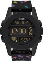 Nixon Men's Unit Black Multi Speckle Digital Silicone Watch