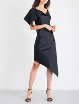 Area Blade silk-satin dress