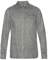 John Varvatos Long-sleeved Linen Shirt