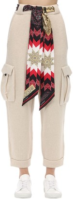 Alanui Cashmere & Wool Knit Cargo Pants