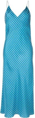 Walk of Shame Polka Dot Silk Slip Dress