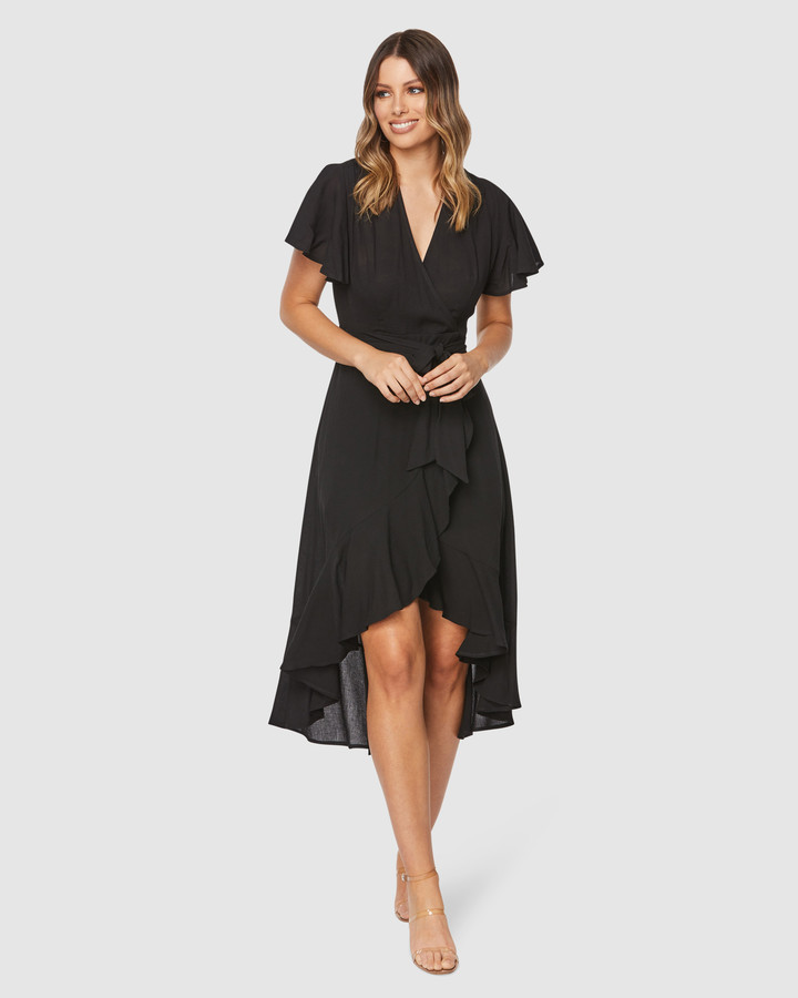 Pilgrim Women's Black Midi Dresses - Monet Midi Dress - Size One Size, 6 at The Iconic