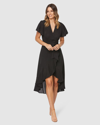 Pilgrim Women's Black Midi Dresses - Monet Midi Dress - Size One Size, 6 at The Iconic