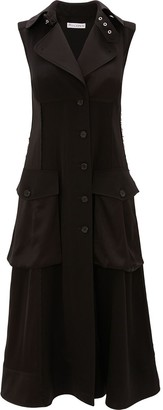 J.W.Anderson Cargo Pockets Buttoned Midi Dress