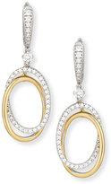 Rina Limor Fine Jewelry 18K White & Yellow Gold Interlocking Diamond Oval Earrings