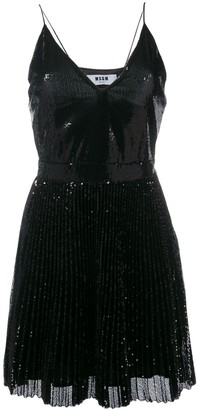 MSGM Sequin Pleated Dress