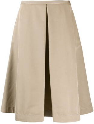 Piazza Sempione pleated A-line midi skirt
