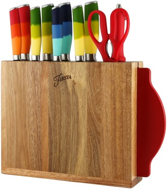 Fiesta 12-Piece Mixed Color Knife Block Set