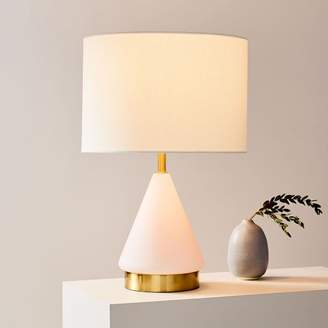 """west elm Metalized Glass USB Table Lamp (20"""")"""