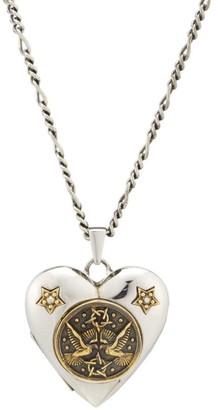 Alexander McQueen Flying Doves Heart Locket Necklace