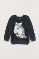 H&M Fluffy Sweater - Gray