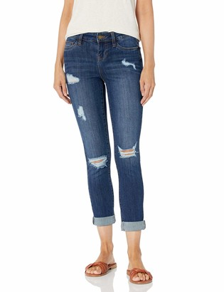 Dollhouse Women's Cuffed Cropped Jeans