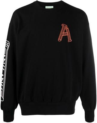 Aries Monogram-Print Cotton Sweatshirt