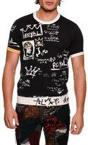 Dolce & Gabbana Royal Scribble Crewneck T-Shirt