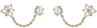 Candela 14K Yellow Gold CZ Beaded Flower Double-Pierced Stud Earrings