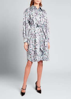 Erdem Floral Print Cotton Shirtdress