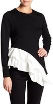 Gracia Asymmetrical Colorblock Shirt