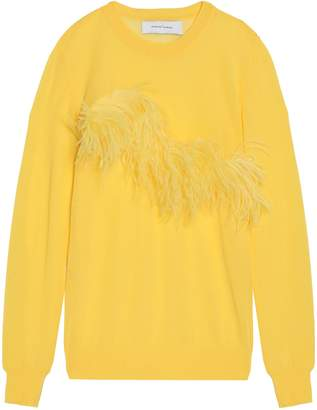 Marques Almeida Marques' Almeida Feather-embellished Knitted Top