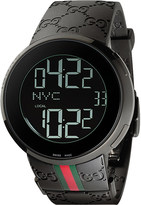 Gucci YA114207 I Collection rubber watch