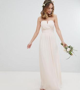 TFNC Petite Petite Bandeau Maxi Bridesmaid Dress-Pink