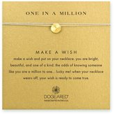 Dogeared One in a Million Sand Dollar Necklace - Gold Dipped