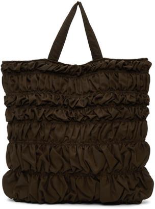 Molly Goddard Brown Kyoto Bumpy Tote Bag