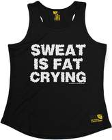 Sex Weights and Protein Shakes Premium SWPS Premium - Sweat Is Fat Crying (M - ) GIRLIE PERFORMANCE TRAINING COOL VEST
