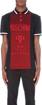 Moschino Embroidered-logo Cotton-jersey Polo Shirt