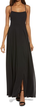 Lulus Dreamy Romance Backless Maxi Dress