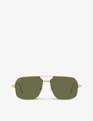 Cartier CT0230S metal and acetate square-frame sunglasses